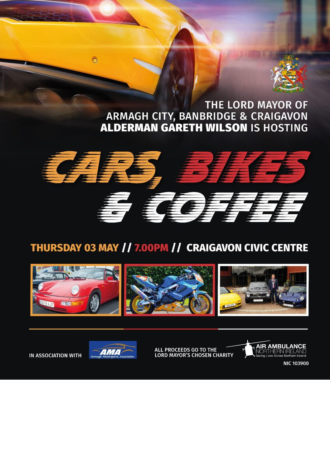 cars, bikes & coffee | craigavon civic and conference centre